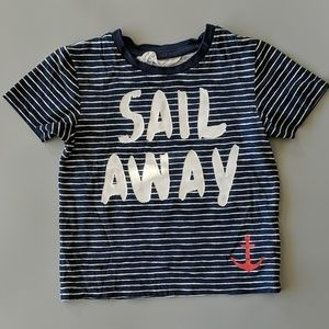 H&M Baby Blue Striped Nautical Tee